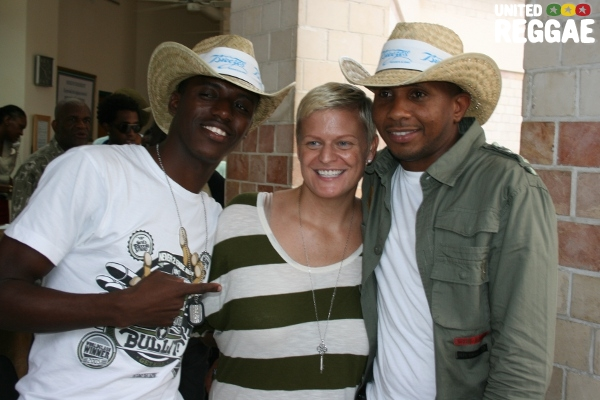 Romain Virgo, Christy Barber (executive producer) and Shane Brown © Steve James