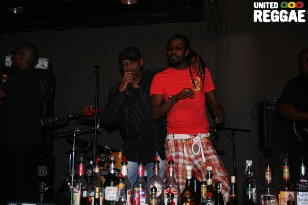 Beres Hammond and Beenie Man at the VIP Lounge © Steve James