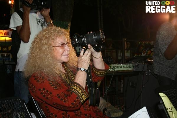 Journalist Gail Zucker gets ready to take a shot © Steve James