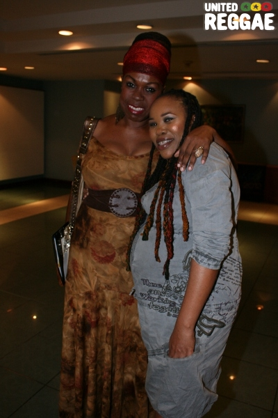 Roots FM announcer Isis and Queen Ifrica © Steve James