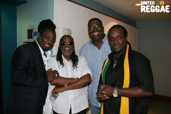 Mikey Spice, Dean Fraser, DJ Squeeze and Pesso © Steve James