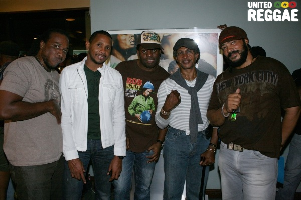 Anthony Malvo, Shane Brown, Bulby, Sly Dunbar and friend © Steve James