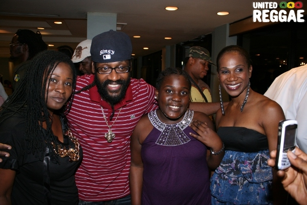 Tarrus Riley and fans © Steve James