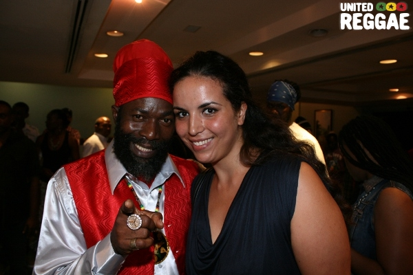 Capleton and French journalist Ratiba © Steve James