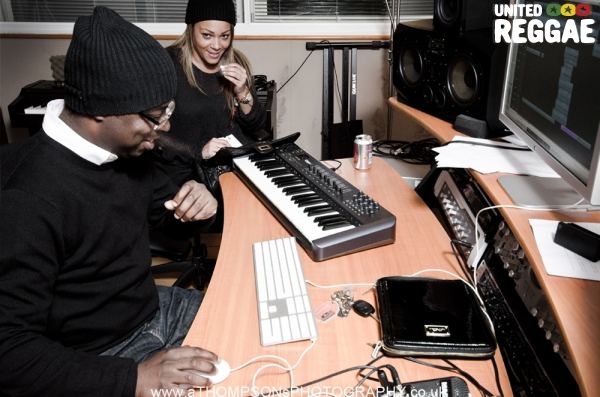 Curtis Lynch and Shola Ama in studio © Andrew Thompson