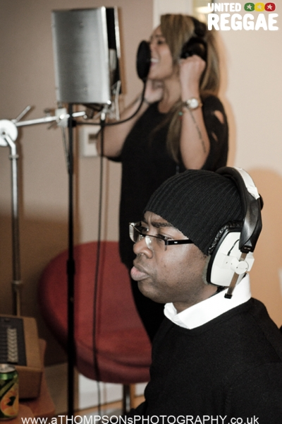 Curtis Lynch voicing Shola Ama © Andrew Thompson