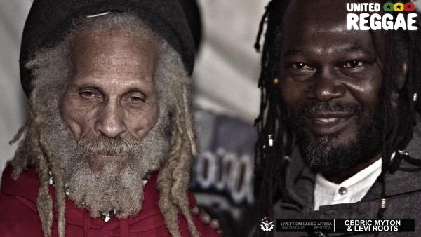 Cedric Myton and Levi Roots backstage © Aude-Emilie Dorion