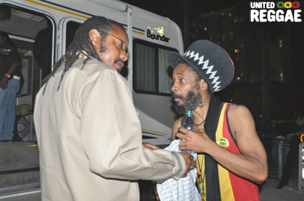 Luciano's road manager Anthony and Ras I Ray © Gail Zucker