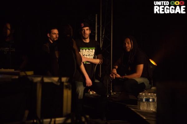 Bim and Aka Koxx backstage © Christian Bordey