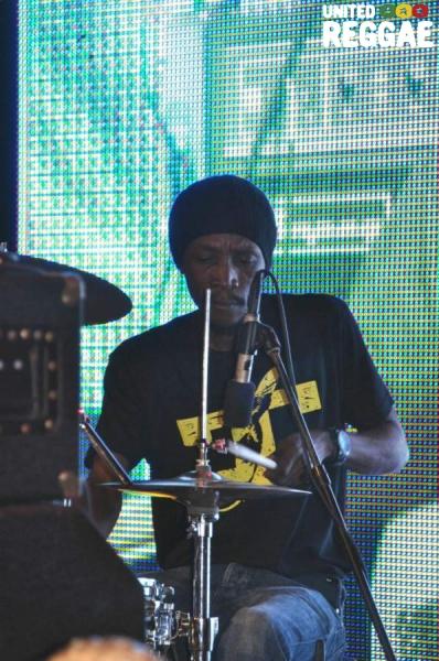 Squidly Cole, drummer, Marley band © Gail Zucker