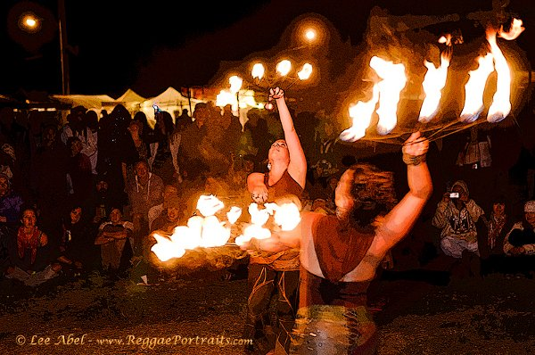 Fire Dancers © Lee Abel