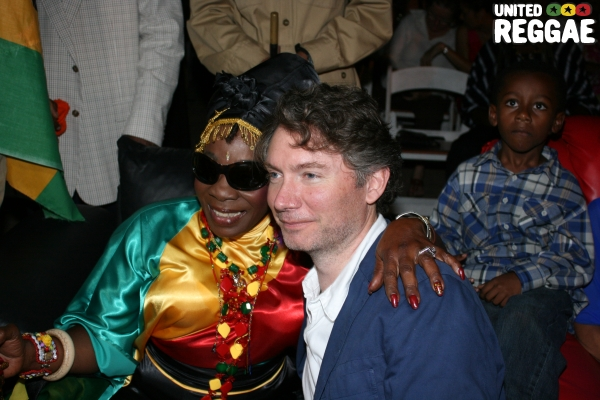 Rita Marley and Director of Marley, Kevin MacDonald © Steve James