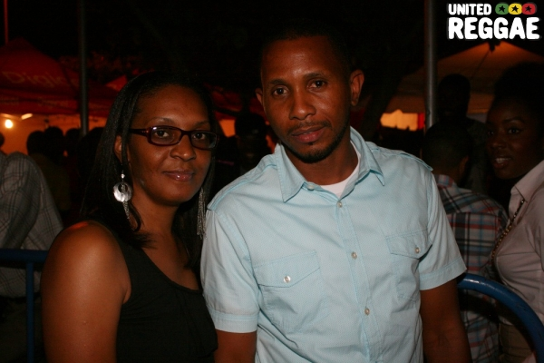 Busy Signal's management team, Pansy Dixon and Shane Brown © Steve James