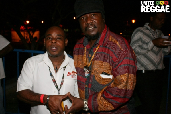 Bess FM radio announcer DC and Mikey General © Steve James