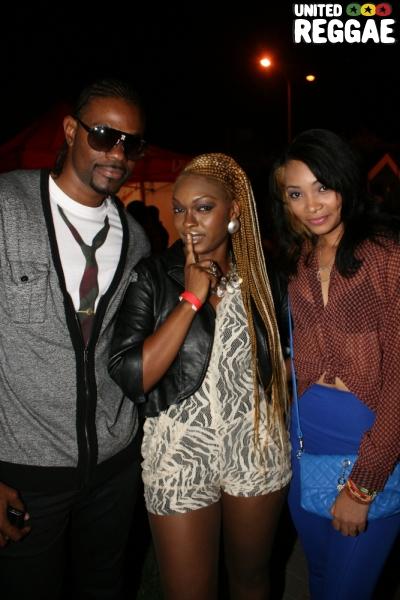 Singers D Major, Brown Sugar and Guyanese singer Tameka © Steve James