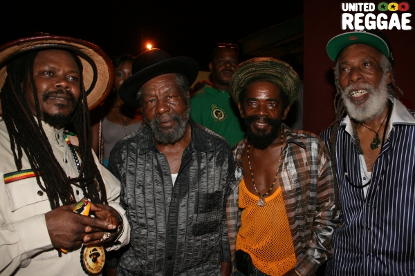 Luciano, U-Roy, Cocoa Tea and Big Youth © Steve James