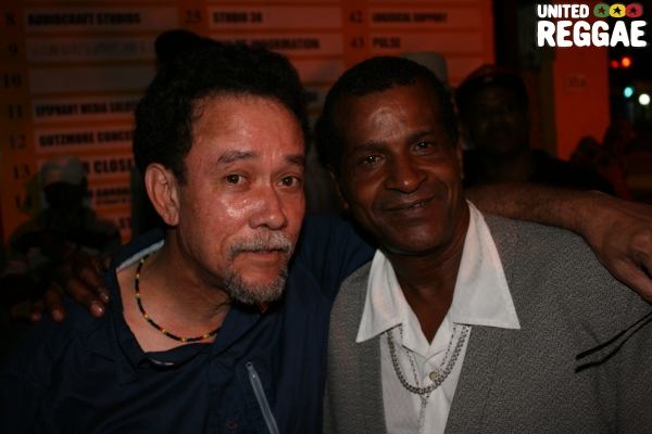 Clive Chin (VP Records) and Ranking Trevor © Steve James