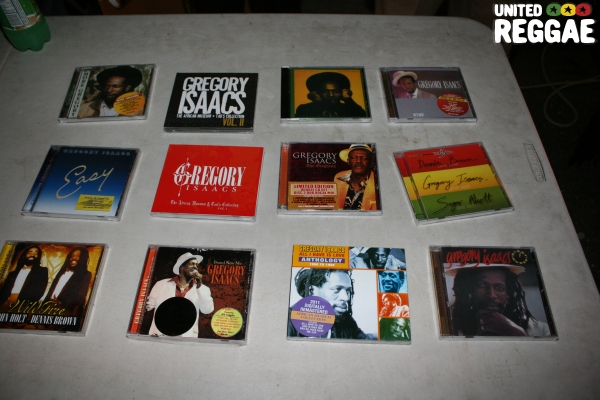 Gregory Isaacs CD's on display © Steve James