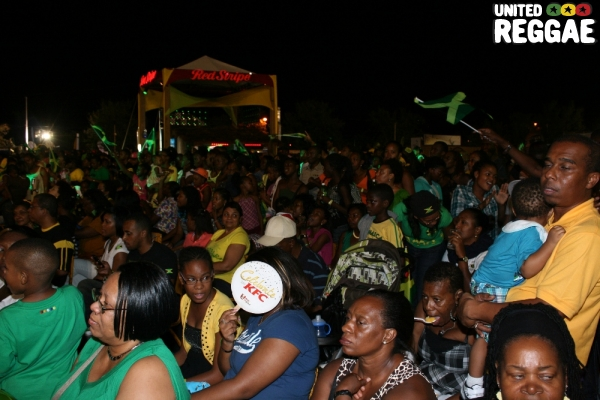 Audience watching the performances at the Jubilee Village © Steve James