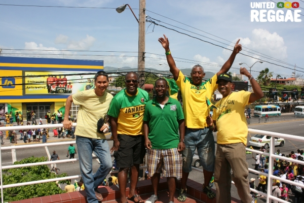 Jamaicans from the Diaspora celebrate with yours truly © Steve James