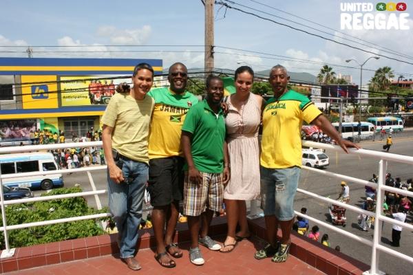 Jamaicans celebrate © Steve James