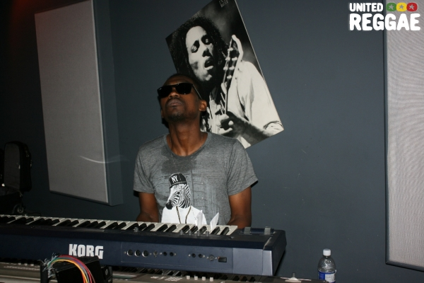 Busy Signal playing keyboards during Sting rehearsal © Steve James