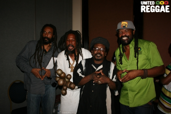 President brown, friend, Tony Tuff and Tony Rebel © Steve James