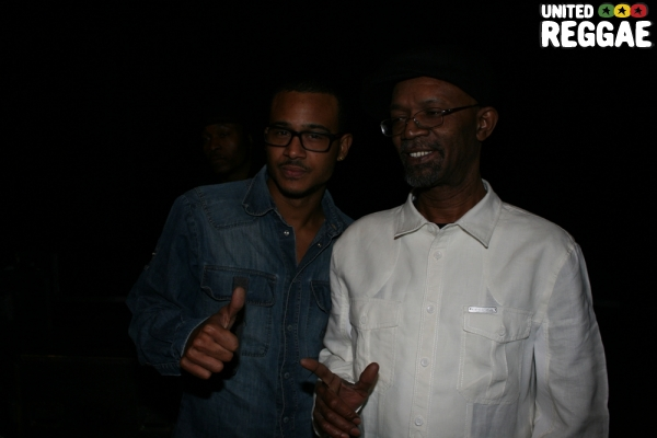 Singer Jimmy Cozier and Beres Hammond © Steve James