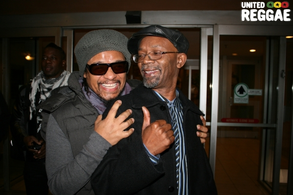 Maxi Priest and Beres Hammond getting ready to head to the venue © Steve James