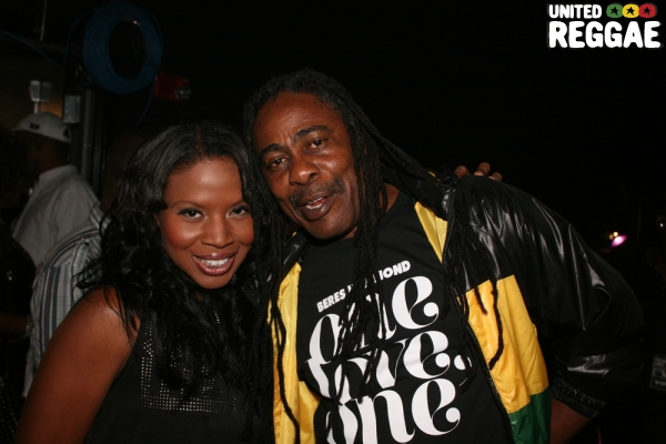 TV host Sharon and show promoter Tonto Irie of Hot 105 FM © Steve James