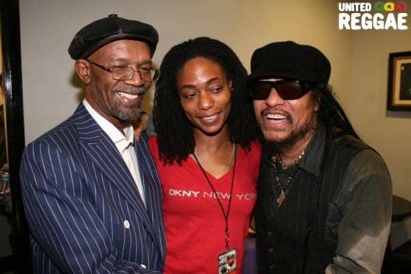 Beres Hammond, Kim Yamaguchi and Maxi Priest © Steve James