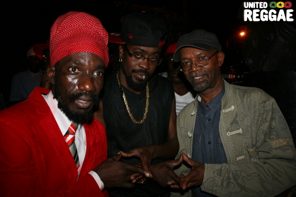 Sizzla, Beenie Man and Beres Hammond © Steve James
