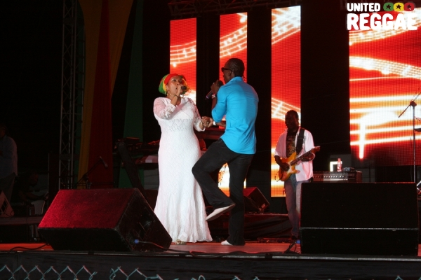 Marcia Griffiths and Lukie D © Steve James