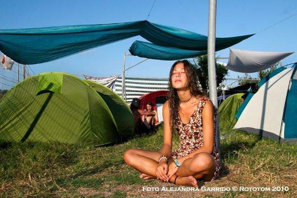 Camping © Alejandra Garrido / Rototom 2010