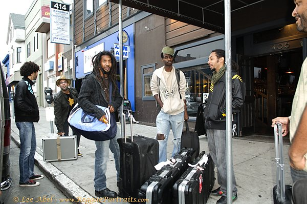 Rootz Underground arriving at San Francisco venue © Lee Abel