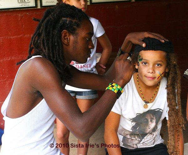 Facepainting Ras Style © Sista Irie