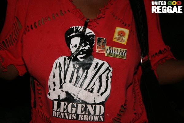 Dennis Brown t-shirt © Steve James