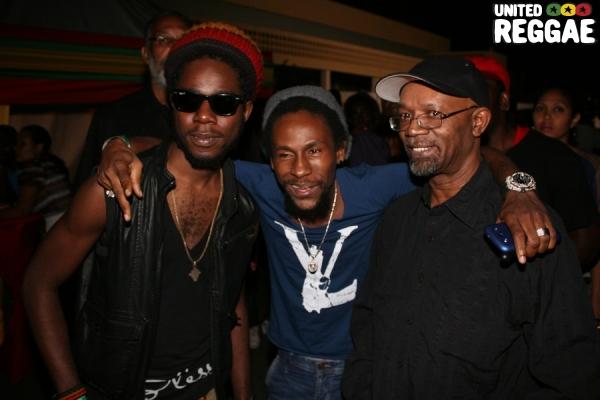 Chronixx, Jah Cure and Beres Hammond © Steve James