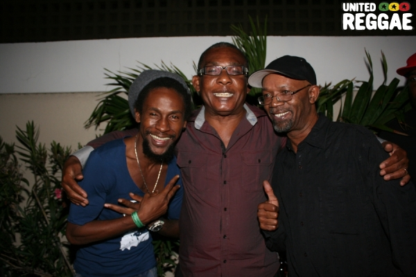 Jah Cure, Ken Boothe and Beres Hammond © Steve James