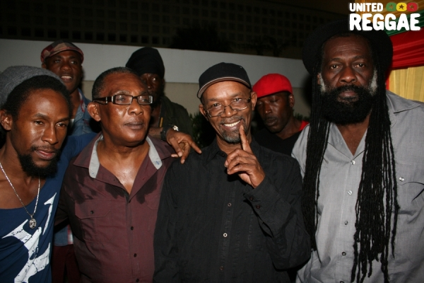 Jah Cure, Ken Boothe, Beres Hammond and Jimmy Riley © Steve James