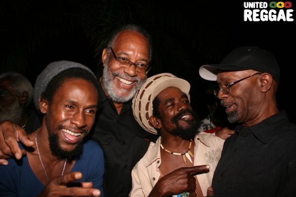 Jah Cure, Big Don, Cocoa Tea and Beres Hammond © Steve James