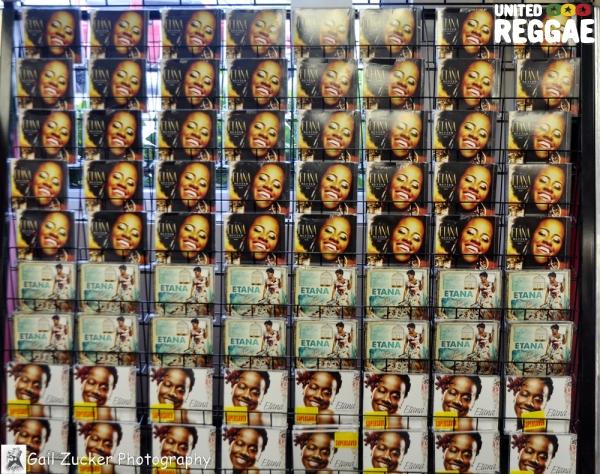 Display of Etana CD's at VP Retail Store © Gail Zucker