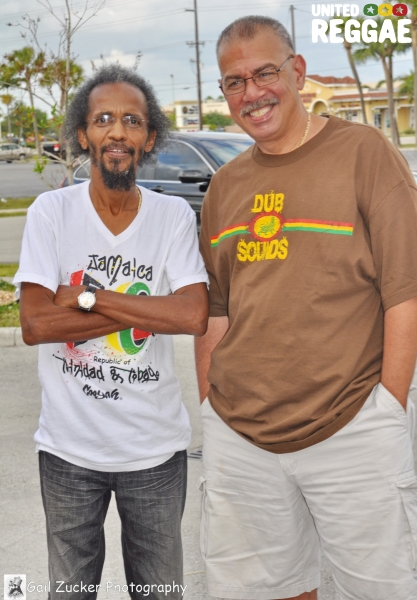 Homer Blair of Cooyah and David of VP Records © Gail Zucker