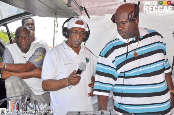 Lloyd Campbell, Denver Silvera (Jamusa) and Bigga Boss of WAVS 1170 AM © Gail Zucker
