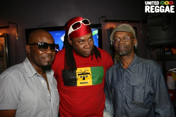 Tony Gold, Anthony Red Rose and Beres Hammond © Steve James