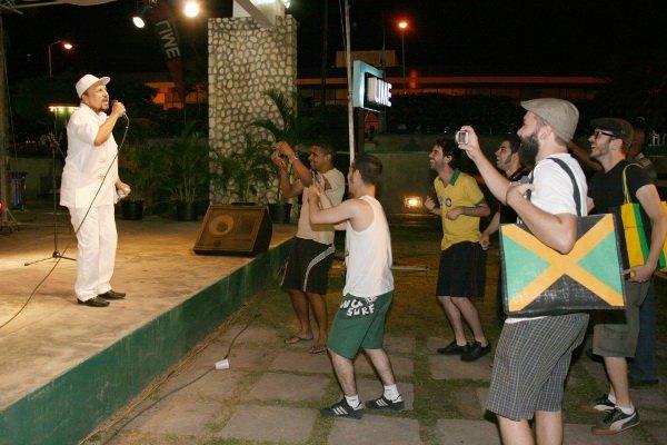 Dennis Alcapone and The Brazilians © Steve James