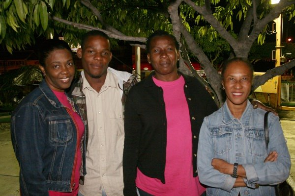 L-R June Isaacs (Gregory's wife) and friends © Steve James