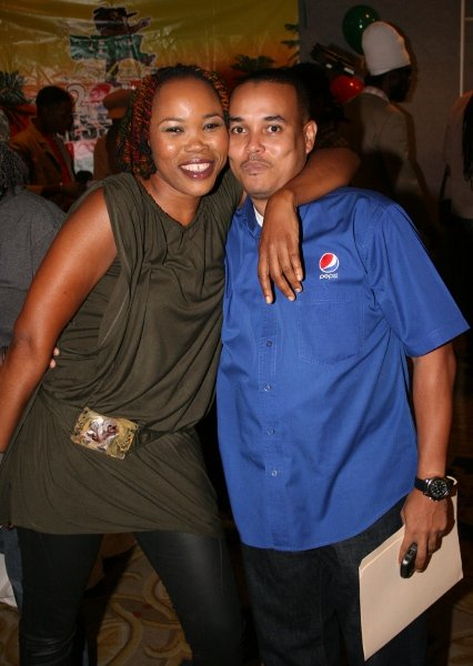 Queen Ifrica and Carlo Redwood, Pepsi brand manager © Steve James