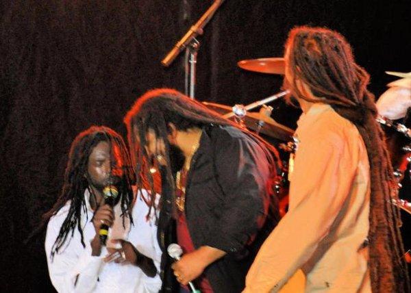 Buju Banton, Stephen and Damian Marley © Gail Zucker