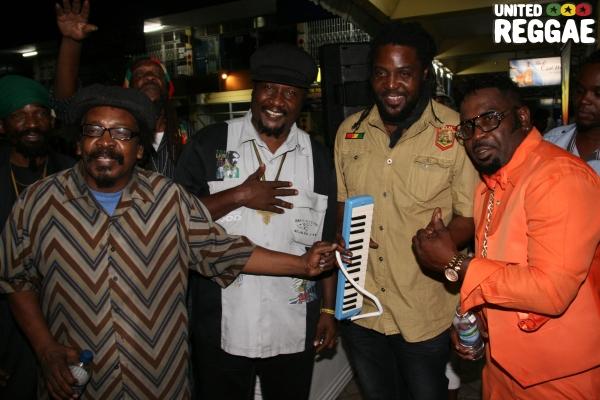 Tony Tuff, Mikey General, Yami Bolo and Singer Tuffy © Steve James
